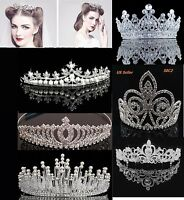 Bridal Crystal Tiara Crown Comb Hair Rhinestone Wedding Pearl Headband Gift S8C