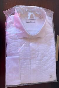 Calvin Klein Men's Infinite Slim Tall Stretch Collar Shirt LP7 White Size 16