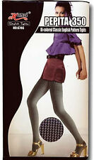 Bi-Colored Dogtooth PEPITA 50s Strumpfhose Rockabilly
