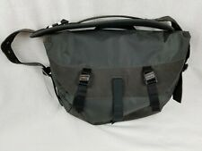 Timbuk2 BICI Messenger Bag Charcoal Bicycle Laptop Briefcase Leather Nylon