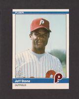 1984 Fleer Update #U-111 JEFF STONE Rookie RC Phillies NRMT