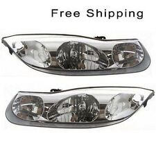 Halogen Head Lamp Assembly Set of 2 LH & RH Side Fits 2001-2002 Saturn SC1 SC2