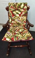 Indoor or Outdoor Rocking Chair or Glider Chair Cushion Set Large Reversible