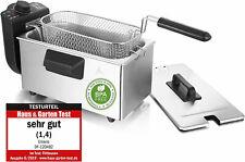 3 Liter Edelstahl-Fritteuse Emerio DF-120482 Kaltzonen-Fritöse 2000W frittieren