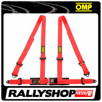OMP ROAD 4 4 POINTS RED SEATBELT Harness Belts Race Racing Rally DA505061