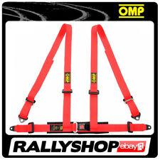 OMP ROAD 4 4 POINTS RED SEATBELT Harness Belts Race Racing Rally DA505061
