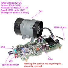 DC 12V Car Electric Turbine Power Turbo Charger Boost Air Intake Fan W/ Control