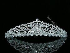 Bridal Floral Rhinestones Crystal Prom Wedding Crown Tiara 8567