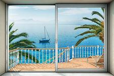 No Tejida Fondo de pantalla gigante 368x248cm azul Lake View Dormitorio Decoración Mural de Pared