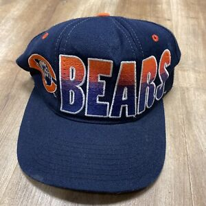 CHICAGO BEARS NFL FOOTBALL VINTAGE 90s STARTER GRADIENT SPELLOUT SNAPBACK HAT