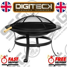 Fire Pit BBQ Firepit Brazier Bowl Garden Round Log Burner Patio Heater Ambiance