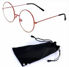 Round Style Harry Potter Inspired Eye Glasses with Pouch - RED