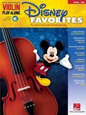 Disney Favorites Violin Play-Along Book and Audio New 000842648