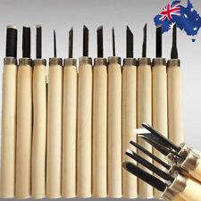 12PCS Chisels Knife Carving Wood Tool Set Wooden Handler Handwork Carve SQKN9112