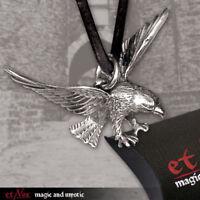Auténtico Etnox Águila Bronce Colgante Plateado Joyería Gótica - Nuevo