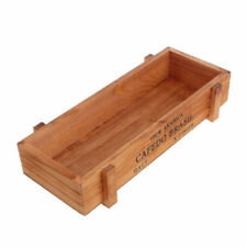 Vintage Wood Garden Flower Planter Succulent Pot TroughRectangle Box Plant #we