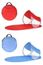 Stuoia da spiaggia con parasole richiudibile montaggio pop up per mare con borsa