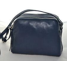 Borsa tracolla vera pelle Donna Blu Shoulder bag genuine leather Woman borse 888