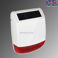 WIRELESS SOLAR POWERED WEATHERPROOF FLASH LED STROBE BELL BOX FOR AUTODIAL ALARM