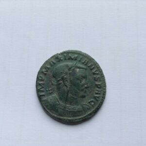 Belle monnaie romaine de Maximinus revers rare large follis
