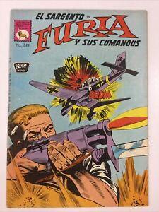1975 SPANISH COMIC EL SARGENTO FURIA #243 SUS COMANDOS SGT FURY LA PRENSA MEXICO