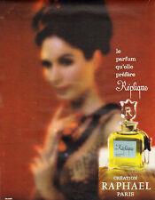 Publicité Advertising 1963  Parfum  Réplique de RAPHAEL pour femme