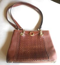 BALLY Women's Shoulder Bag, Vintage, 70's, Brown Leather, Made In Italy