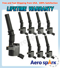 Ignition Coil 8 Pack For Ford Multispark Blaster Epoxy 5.4L 4.6L DG508 F-150 XL