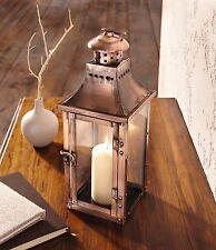 Laterne Windlicht kupfer Kerzenhalter Metall Gartenlaterne Deko Terrasse Garten