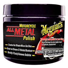 Meguiar's Motorcycle ALL METAL POLISH Great on Chrome & Polished Aluminium HQ