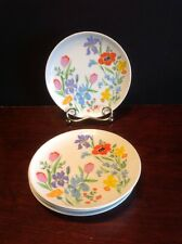 """Heinrich H&C Selb Primavera 6 3/8"""" Bread & Butter Plate Lot Of 4 Gentle Used"""