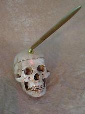 Skull Pen Holder Halloween Prop Skull, NEW