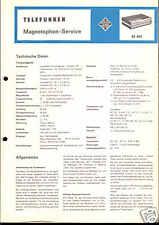 Telefunken Original Service Manual für Tonband M 401