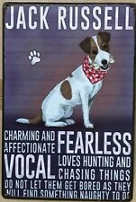 JACK RUSSELL Rustic Look Vintage Tin Metal Sign Man Cave, Shed-Garage & Bar