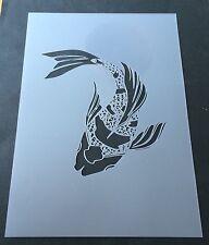 Koi Fish top view Mylar Reusable Stencil Airbrush Painting Art Craft DIY home