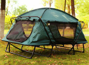 1 Person Portable Waterproof Foldable Dual Layres Outdoor Hiking Off Ground Tent