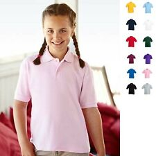 Fruit of the loom Kinder Poloshirt Kids Polo 65/35 T-Shirt Polohemd Kind UNISEX