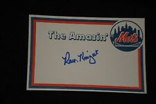 RAY KNIGHT SIGNED AUTOGRAPHED LARGE CUSTOM MADE INDEX CARD 1986 NEW YORK METS