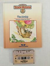 1986 TEDDY RUXPIN  The Airship Hardcover Book and Tape
