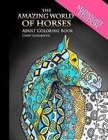 Amazing World of Horses Midnight Edition : Adult Coloring Book, Paperback by ...