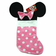 Disney Minnie Mouse Ears Pink Christmas Stockings Decoration Home Decor!