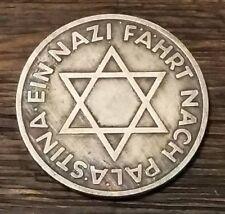 WW2 WWII German Palestine Der Angriff Third Reich Nazi coin Silver Plated