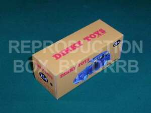 Dinky #254 (40h) Austin Taxi (blue) - Reproduction Box by DRRB