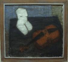 """Gösta Lindqvist 1928, """"Nature morte avec Violon et Sculpture"""", À 1950/60"""