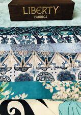 """Liberty Tana Lawn Scrap Pack 'Bold Blues💙' 8 Gorgeous Prints 6"""" X 9"""""""