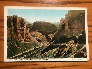 "Vintage Postcard - Fish Creek Canyon, ""Apache Trail"", Arizona - Postmarked 1928"