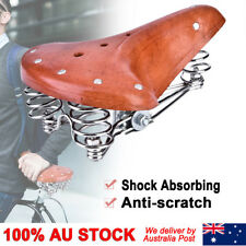 Retro Brown Bike Bicycle Cycling Sprung Saddle Comfortable Leather Seat Unisex