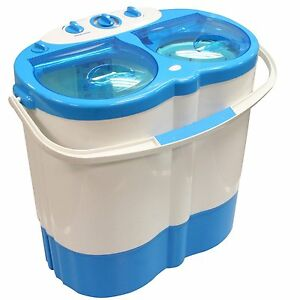 Portable Mini 230V Camping Caravan Travel Washing Machine Spin Dryer Drying NEW