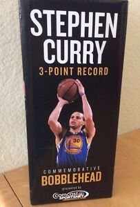Golden State Warriors Stephen Curry Three Point Record Bobblehead Steph 3 point