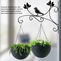Wall Flower Bracket Home Garden Hanging Basket Planter Lantern Hanger Hook Black